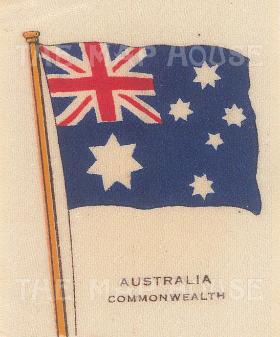 "Cigarette Cards: Australia. c1910. Original printed colour on silk. 2"" x 3"". [ARMp3]"