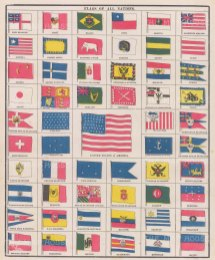 "Anonymous: Flags of All Nations. c1910. An original antique chromolithograph. 10"" x 12"". [ARMp41]"