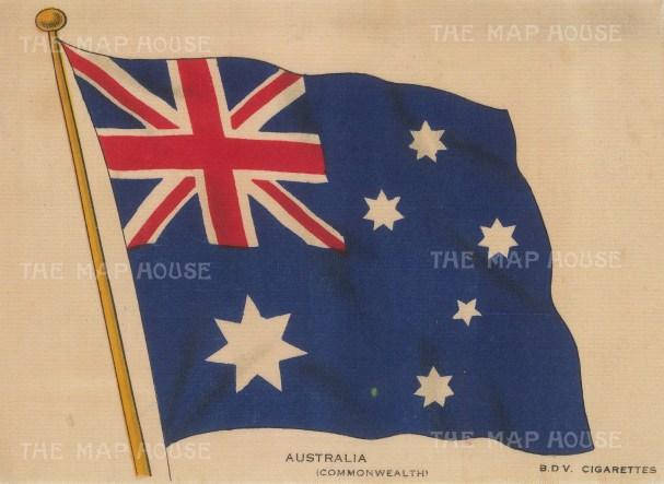 "BDV Cigarettes: Australia. c1910. Original printed colour on silk. 6"" x 4"". [ARMp4]"