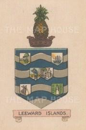 "Cigarette Cards: Leeward Islands. c1910. Original printed colour on silk. 2"" x 3"". [ARMp72]"