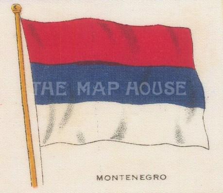 "Cigarette Cards: Montenegro. c1910. Original printed colour on silk. 3"" x 2"". [ARMp81]"