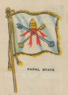 "Cigarette Cards: Papal State. c1910. Original printed colour on silk. 2"" x 3"". [ARMp95]"