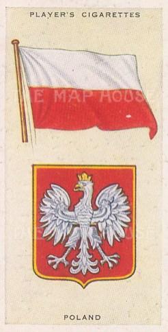 "Player's Cigarettes: Poland. c1935. An original antique chromolithograph. 1"" x 3"". [ARMp99]"