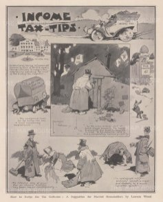 De Vere Jones makes some alterations pending the tax collector's visit. After the satirist David Wilson.