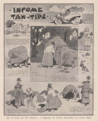 Income Tax Tips: De Vere Jones makes some alterations pending the tax collector's visit. After the satirist David Wilson.