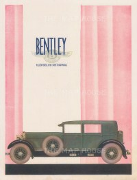 Bentley. Cork Street Advertisement.