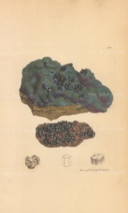 Cuprum subsulphureum. Vitreous copper ore from Cornwall.