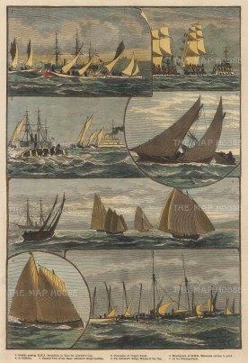 Mediterranean Fleet Regatta at Palma: Seven views of the race for the Admiral's Cup.
