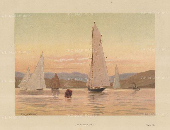 Yachts: Sleuth-Hound, designed by William Fife in 1880 for the Marquis of Ailsa.