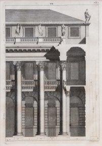 """Picart: Facade. 1715. An original antique copper engraving. 10"""" x 13"""". [ARCHp950]"""
