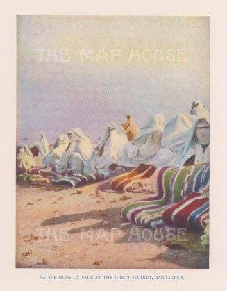 """Vernon: Marrakesh, Morocco. 1927. An original colour vintage photo-lithograph. 4"""" x 5"""". [AFRp1430]"""