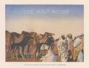 """Vernon: Marrakesh, Morocco. 1927. An original colour vintage photo-lithograph. 4"""" x 5"""". [AFRp1433]"""