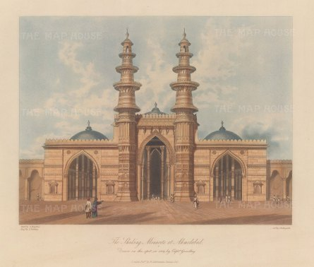 Gujaret: Ahmedabad. The mosque of Sidi Bashir and the Shaking Minarets (Jhutta Minar).