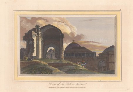 "Daniell: Madurai. 1813. A hand coloured original antique aquatint. 9"" x 7"". [INDp1531]"