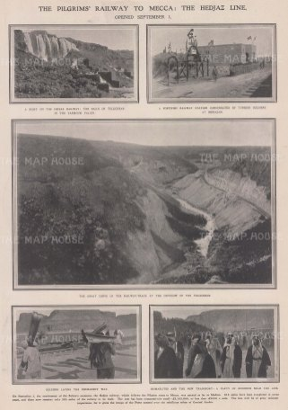 Mecca: Five views on the Hedjaz Line to include the Falls of Telicheab, Monazan, and Tellicheab outflow.