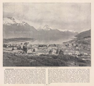 "RESERVED Meisenbach & Co.: Queenstown. c1910. An original antique photo-lithograph. 10"" x 7"". [NWZp302]"