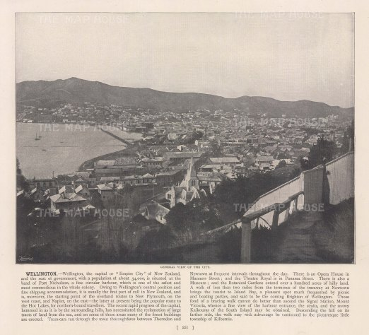 "Meisenbach &Co.: Wellington. c1910. An original antique photo-lithograph. 10"" x 7"". [NWZp303]"