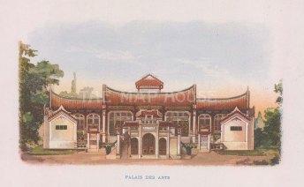 Nicolas: Palais des Arts. 1900. An original antique chromolithograph. [SEASp1729]