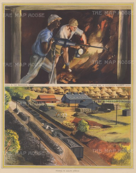 Gold Mining in South Africa: Gold in the Transvaal; Chrome Ore in Southern Rhodesia.