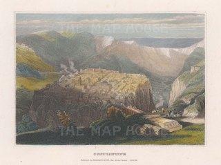 "Meyer: Constantine, Algeria. c1836. A hand coloured original antique steel engraving. 6"" x 4"". [AFRp1236]"