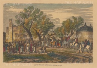 Chad: Mas-Ena. Arrival of the Sultan of Bagirmi.