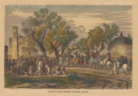Chad: Mas-Ena. Arrival of the Sultan of Bagirmi.