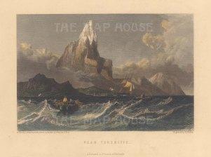 "Fullarton: Tenerife, Canary Islands. c1856. A hand coloured original antique steel engraving. 7"" x 5"". [AFRp853]"