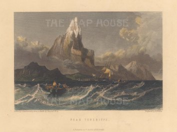 "Fullarton: Tenerife, Canary Islands. c1856. A hand coloured original antique steel engraving. 7"" x 5"". [AFRp853]"
