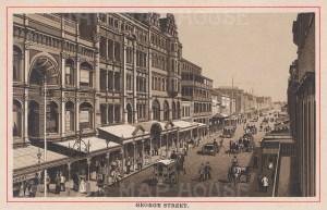 "Anonymous: George Street, Sydney. c1910. An original antique photo-lithograph. 5"" x 3"". [AUSp681]"