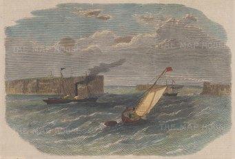 "Graphic Magazine: Sydney. 1863. A hand coloured original antique wood engraving. 9"" x 7"". [AUSp719]"