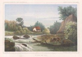 """U.S.P.R.R. Exp.: Hudson Bay. c1857. A hand coloured original antique lithograph. 10"""" x 7"""". [CANp554]"""