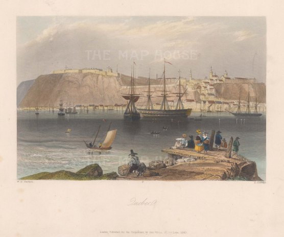"Bartlett: Quebec. 1840. A hand coloured original antique steel engraving. 8"" x 7"". [CANp588]"