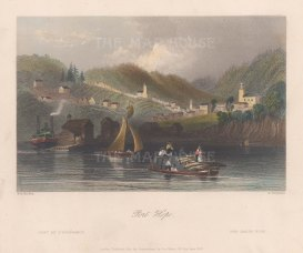 "Bartlett: Port Hope. 1841. A hand coloured original antique steel engraving. 8"" x 7"". [CANp592]"