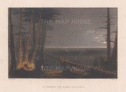 "Bartlett: Lake Ontario. 1840. A hand coloured original antique steel engraving. 7"" x 5"". [CANp673]"
