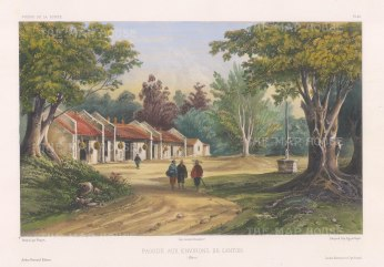 Canton: Pagoda on the outskirts of Canton. After Théodore-Auguste Fisquet, one of the artists on the voyage of La Bonite, 1836-7.