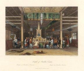 Canton: Interior scene of the Temple of Buddha.