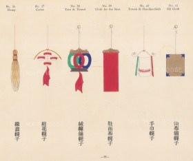 Chinese Pictorial Signs: Decorative signs for Haberdashery and Textiles.
