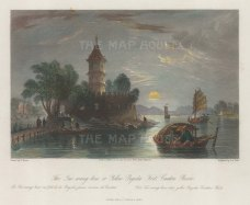 Tai-wang-kow Fort: View on the Canton river on the passage from Macao to Canton.