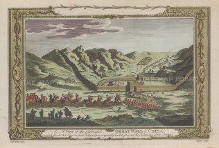 """Millar: Great Wall of China. c1770. A hand coloured original antique copper engraving. 12"""" x 9"""". [CHNp922]"""