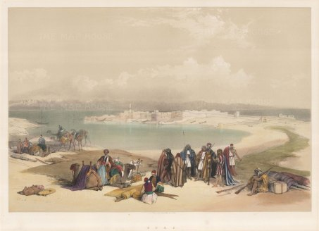 Suez: View of the the town and the Gulf.