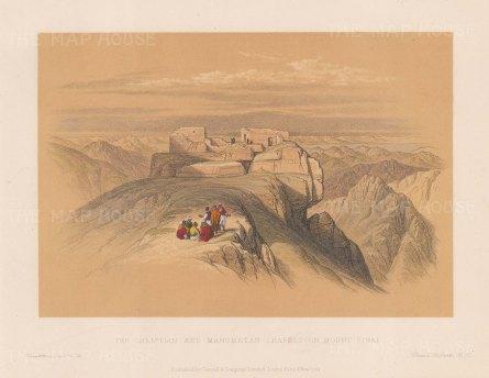 Mount Sinai: The Christian and Mahometan Chapels.