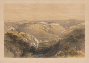 Jerusalem: Valley of Jehosaphat with the City in the distance.