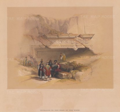 "Roberts: Jerusalem. 1841. A hand coloured original antique lithograph. 13"" x 13"". [MEASTp1338]"