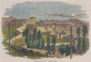 "Illustrated London News: Tehran, Iran. 1866. A hand coloured original antique wood engraving. 9"" x 7"". [MEASTp1366]"