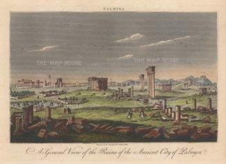 "Wilkes: Palmyra. 1821. An original hand coloured antique copper engraving. 11"" x 8"". [MEASTp1695]"