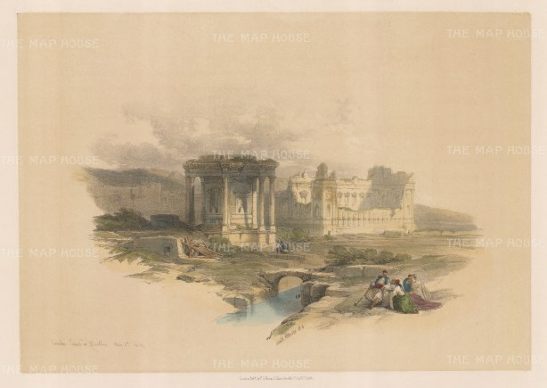 Baalbec: View of the Temple of Venus (The Circular Temple) at Heliopolis.