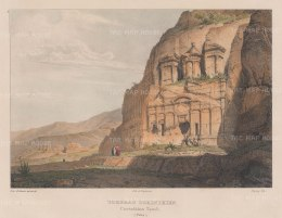 Petra: View of a Corinthian tomb. One of the four Royal Tombs replicating Nero's Domus Aurea at Rome.