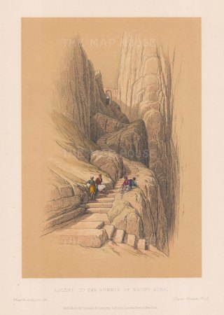 "Roberts: Mount Sinai. c1875. A hand coloured original antique lithograph. 8"" x 11"". [MEASTp853]"