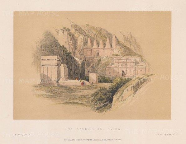 "Roberts: Petra. c1875. A hand coloured original antique lithograph. 11"" x 8"". [MEASTp877]"
