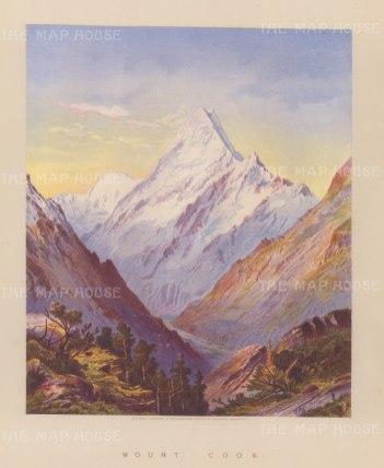 Aoraki (Mount Cook). View from Hooker Valley.